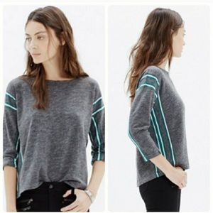 Madewell Nordic Striped Grey Sweater Size XS